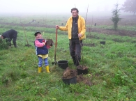 Tree planting is fun for the whole family